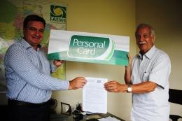 Assinatura do convênio entre FAEMS e Personal Card