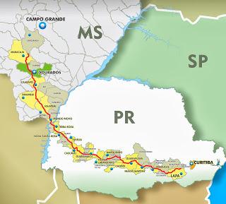 Com parceria do Paraná, governador aposta que ferrovia pode virar realidade