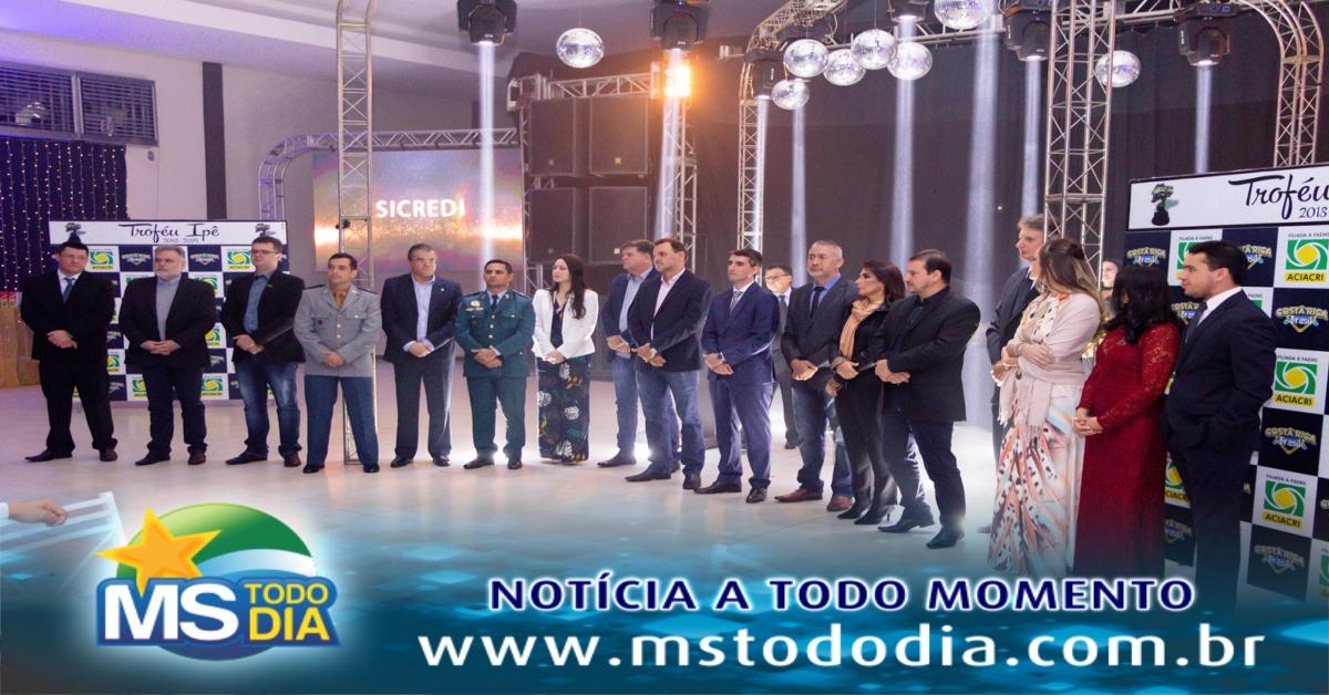 Público lota Espaço Gold em noite de premiação do Troféu Ipê aos destaques do ano 2018/2019, em Costa Rica