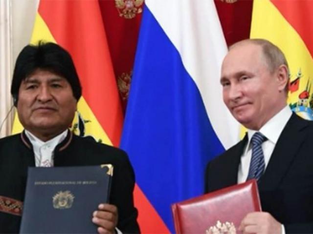 Evo e Putin selam acordo para compra de gás por fábrica russa em MS