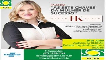 Palestra As sete chaves da mulher de sucesso acontece em Bonito