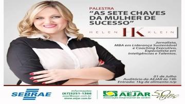 Associações de Jardim e Bonito realizam palestra As sete chaves da mulher de sucesso