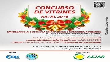AEJAR realiza Concurso de Vitrines de Natal